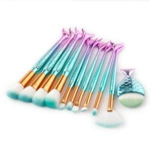 Glowii Fishtail Mermaid Makeup Brush Set